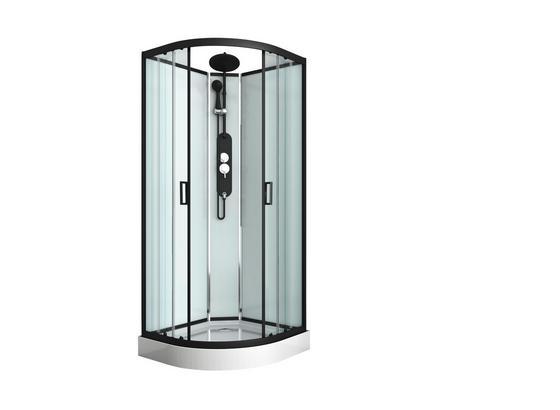 Duschkabine Epic 1 - Schwarz, MODERN, Glas/Metall (90/90/225cm) - Sanotechnik