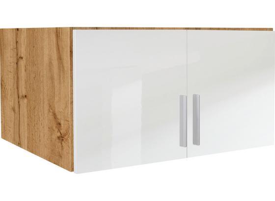 Aufsatzschrank 91cm Celle02, Wotan Eiche Dekor/Weiß - Eichefarben/Weiß, MODERN, Holz (91/40/54cm)