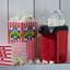 Prístroj Na Výrobu Popcornu Jan - čierna/červená, plast (13/27,5/19cm)