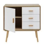 Komoda Claire - prírodné farby/biela, Moderný, drevo (80/78/39cm) - Modern Living