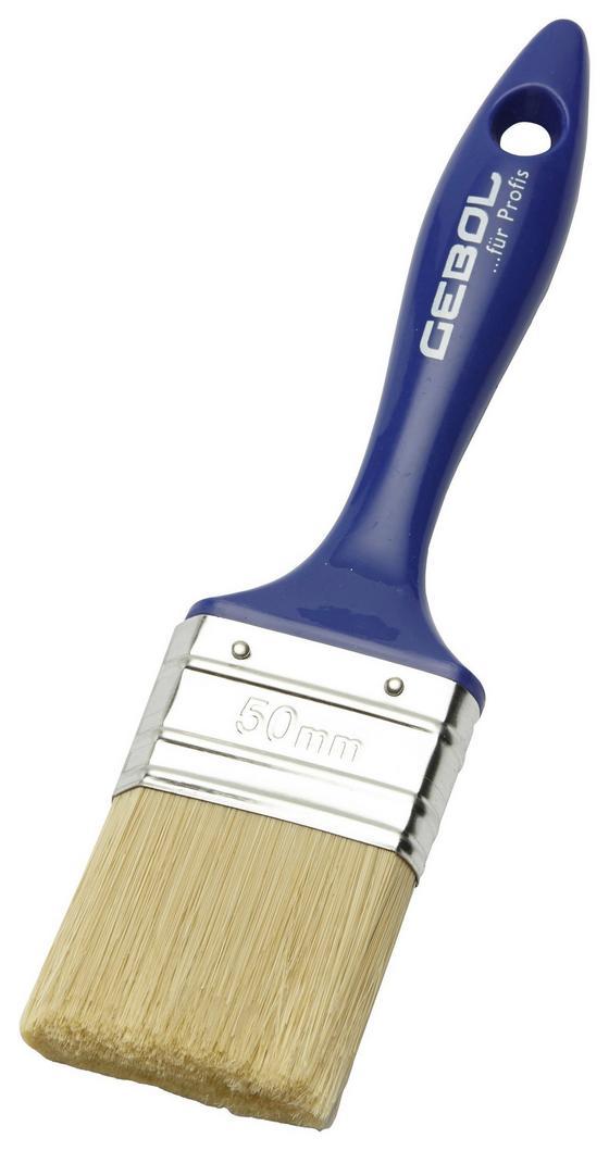 Ecset Lapos - kék, konvencionális, műanyag/fém (5cm)