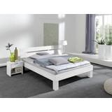 Futonbett Echtholz Massiv 100x200 Julia, Buche - Weiß, Design, Holz (100/200cm) - Livetastic