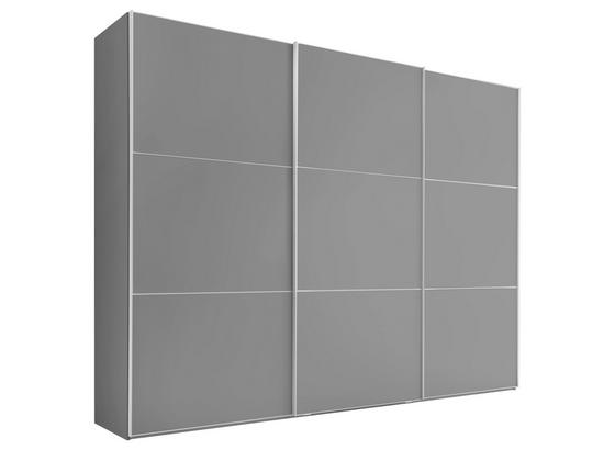 Skříň S Pos. Dveřmi.(hor.ved.) Includo Glas 298 Cm - šedá, Moderní, kompozitní dřevo (298/222/68cm)