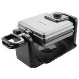 Waffelautomat Emerio Wm-110984 - Alufarben/Schwarz, MODERN, Kunststoff/Metall (40,2/13,3/24,1cm)