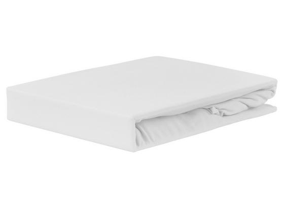 Spannleintuch Jardena 100x200 cm - Weiß, KONVENTIONELL, Textil (90-100/200cm) - Ombra