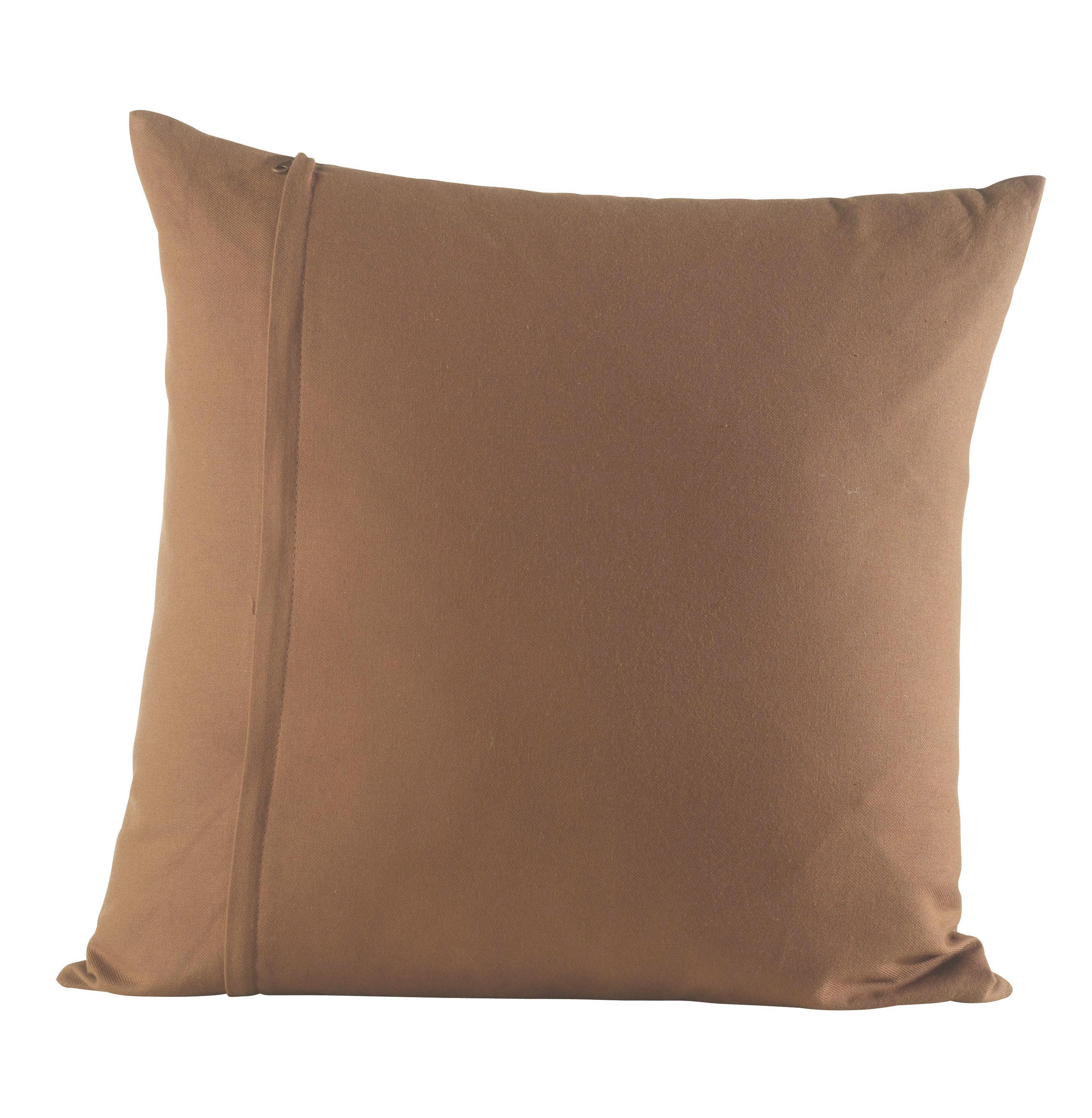 Polštář Ozdobný Zippmex -based-top- - hnědá, textil (50/50cm) - BASED