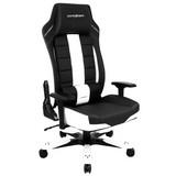 Gamingstuhl DX Racer Boss Schwarz/weiss - Schwarz/Weiß, MODERN, Kunststoff/Textil (84/128-138/84cm) - Dxracer