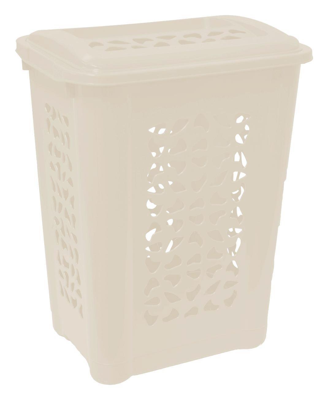Wäschetonne Per, 60 Liter - Creme, KONVENTIONELL, Kunststoff (60/34/45cm)