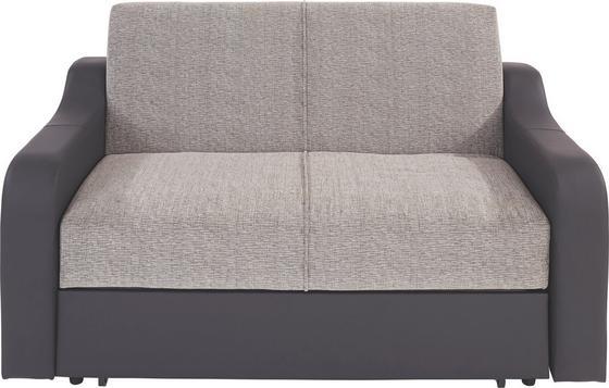 Rozkládací Pohovka Max - šedá, Konvenční, kov/textil (160/75/100cm)