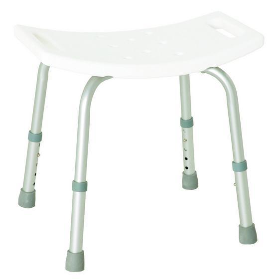 Badhocker Help 1 - Weiß, MODERN, Kunststoff/Metall