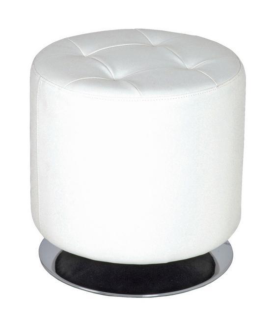 Taburet Circle - biela, Moderný, kov (40/40cm)