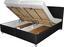 Posteľ Notte 180x200 Čierna - čierna, Moderný, textil (213/188/106cm)