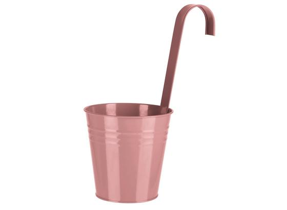 Kvetináč Chloe - svetlomodrá/pink, Konvenčný, kov (13/28/13cm)