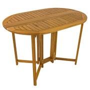 Gartentisch Klappbar Aus Akazienholz L 110 cm - Braun, Basics, Holz (110kg) - Ambia Garden
