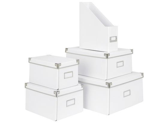 Uskladňovací Box Lorenz - biela, kartón/kov (34/24,5/14,5cm) - Mömax modern living