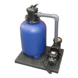 Sandfilterpumpe Blue Line - Blau/Schwarz, MODERN, Kunststoff (75/45/80cm)