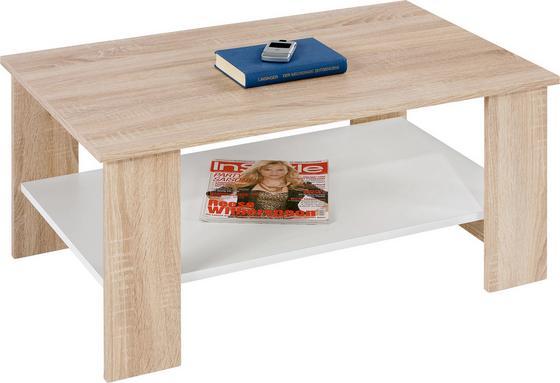 Konferenčný Stolík Paolo *cenový Trhák* - farby dubu/biela, Konvenčný, preglejka/drevo (90/41/55cm)