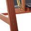 Houpačka Acacia - tmavě šedá/barvy akácie, Moderní, dřevo/textil (196/174/124cm) - Modern Living