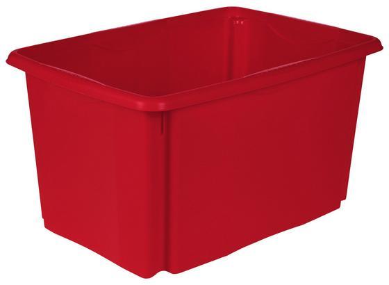 Aufbewahrungsbox Emil - Rot, Basics, Kunststoff (54,5/29,5/39cm)