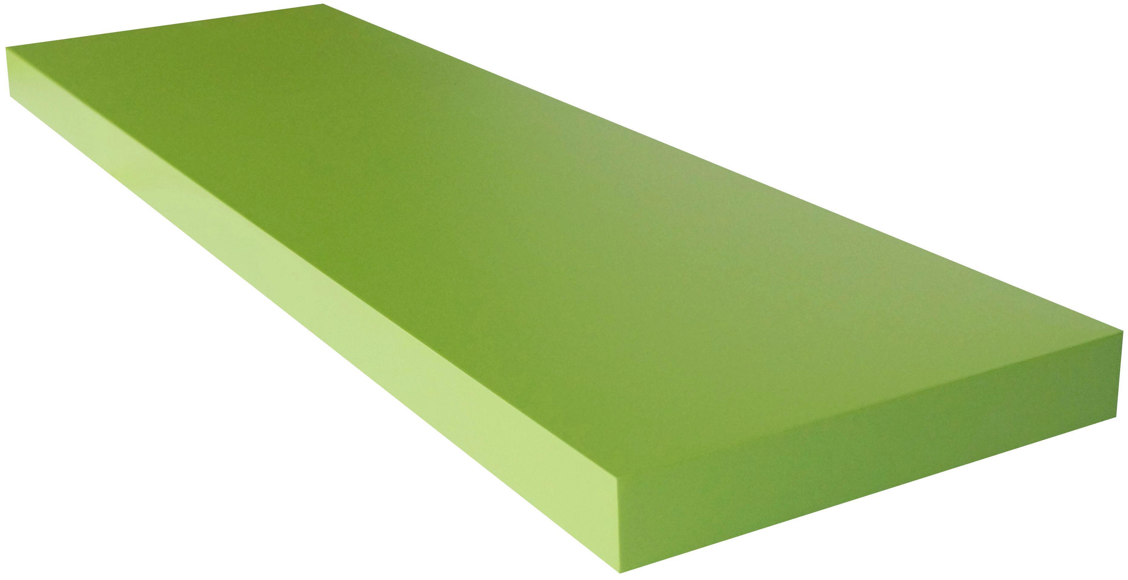 Falipolc Giga - zöld, modern, faanyagok (80/3,8/23,50cm) - MÖBELIX
