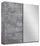 Schwebetürenschrank Belluno 181 cm Stone/spiegel - Grau, MODERN, Holzwerkstoff (181/210/62cm)