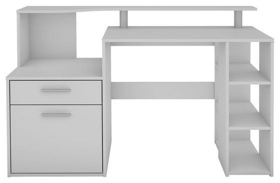 Computertisch in Weiß