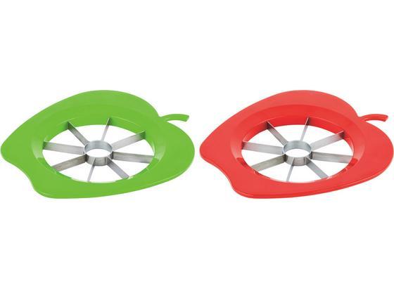 Apfelteiler Plastik - Rot/Grün, KONVENTIONELL, Kunststoff/Metall (22cm) - Fackelmann