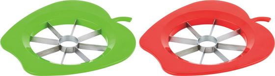 Kráječ Jablka Apple - zelená/červená, Konvenční, kov/umělá hmota (22cm)