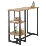 Bartisch Pablo 1 L: 120cm Eiche/Schwarz - Eichefarben/Schwarz, Design, Holz/Metall (120/50/105cm) - MID.YOU