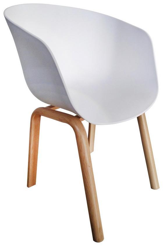 Stuhl Sylvie Weiß - Weiß, MODERN, Kunststoff/Metall (53/75,5/58cm) - Ombra