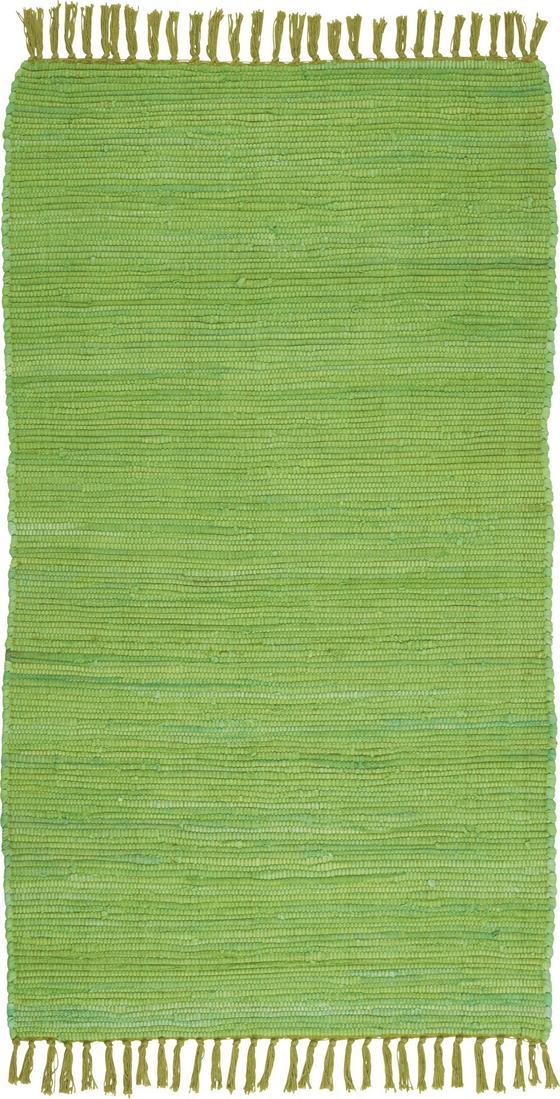Koberec Flíčkový Julia - světle zelená, Konvenční, textil (70/130cm) - Mömax modern living