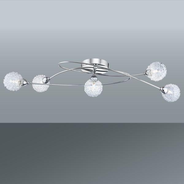 Stropná Lampa Mia - farby chrómu, Moderný, kov/pohár (76/20/15cm) - MÖMAX modern living