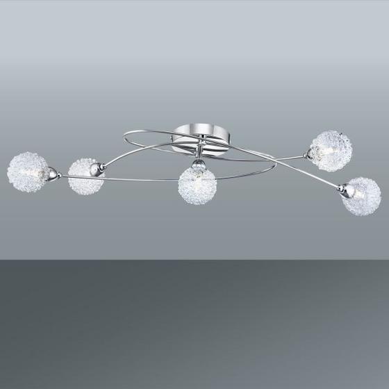 STROPNÁ LAMPA MIA - farby chrómu, Moderný, kov/sklo (76/20/15cm) - MÖMAX modern living