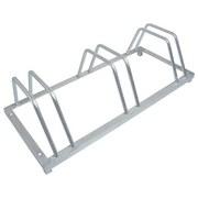 Fahrradständer 3-fach - Silberfarben, MODERN, Metall (88/40/25cm)