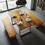 Jedálenský Stôl Mailo - farby akácie/svetlosivá, Moderný, kov/drevo (160/85/75cm) - Modern Living