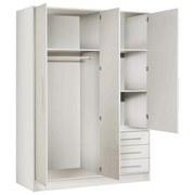 Kleiderschrank Jpts84-Z12m-W Jupiter B: 144cm - Weiß, Basics, Holzwerkstoff/Kunststoff (144,6/200/60cm) - MID.YOU