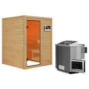 Sauna Tolouse mit Ext. Steuerung 145x187x145 cm - Naturfarben, MODERN, Holz (145/187/145cm) - Karibu