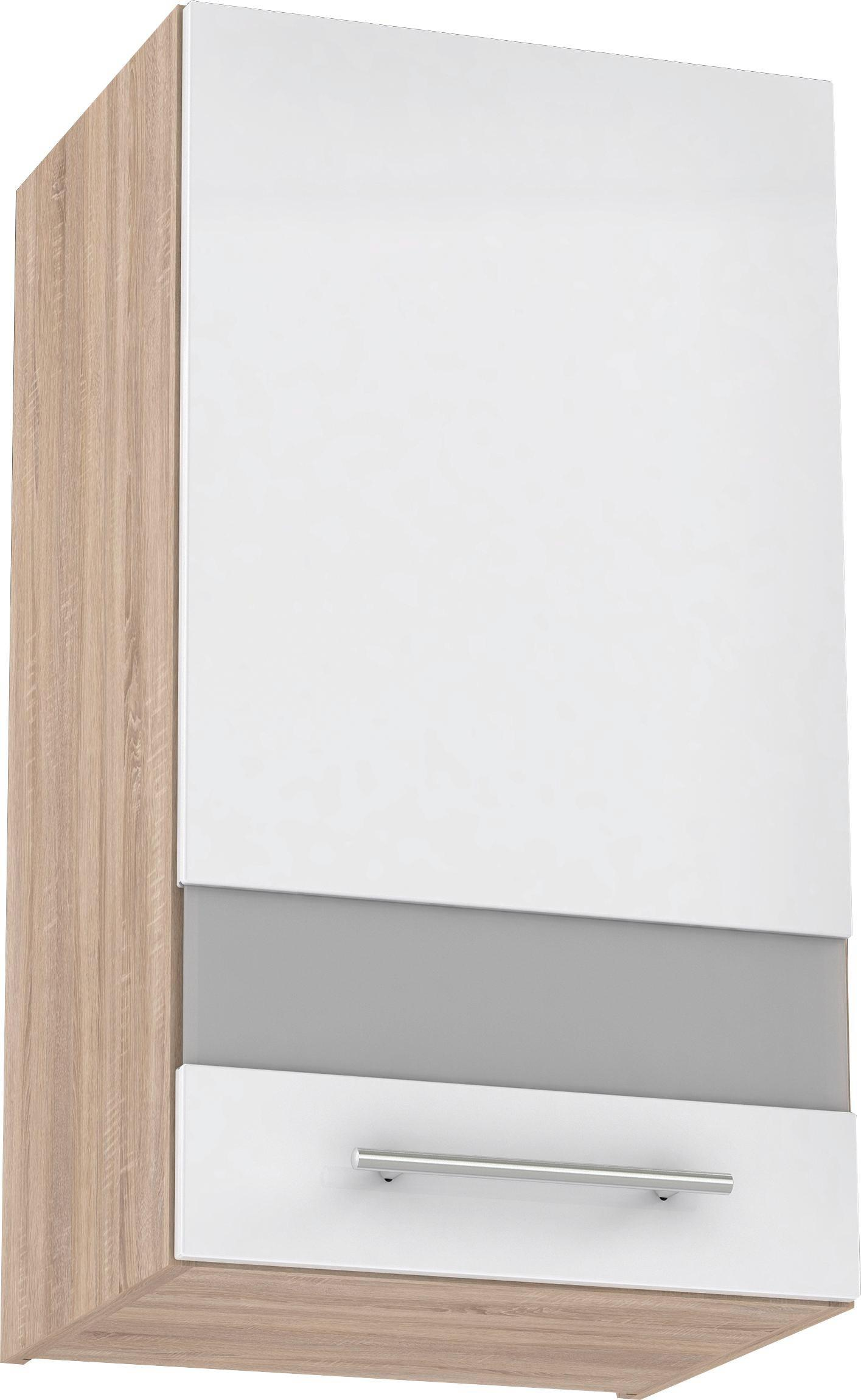 Felsőszekrény Multiforte - barna/Sonoma tölgy, modern, műanyag/üveg (40/72,3/34,6cm)