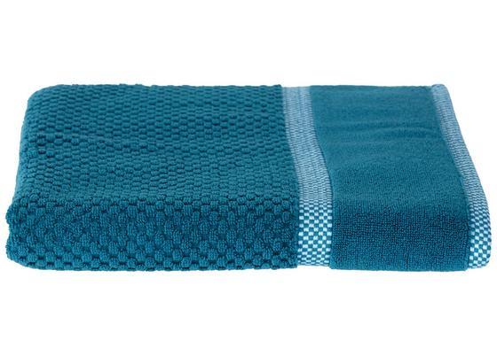 Duschtuch Rocky - Petrol, ROMANTIK / LANDHAUS, Textil (70/140cm) - James Wood