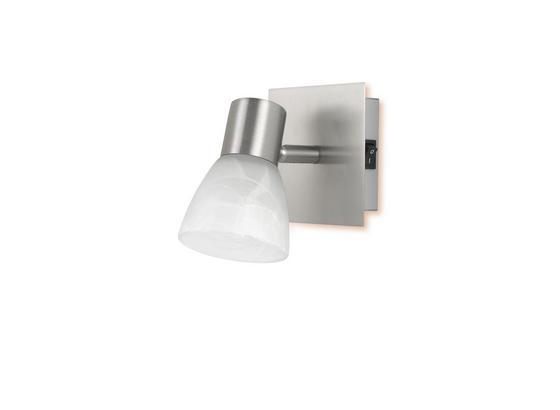 Strahler Katrin - Weiß, KONVENTIONELL, Glas/Metall (10/13/10cm) - Ombra