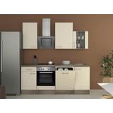 Küchenblock Eico 220 cm Magnolie - Eichefarben/Magnolie, MODERN, Holzwerkstoff (220/60cm)
