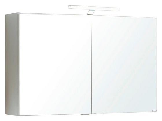 Spiegelschrank Siena 80 cm Weiß - Weiß, MODERN, Holzwerkstoff (80/65/20cm)