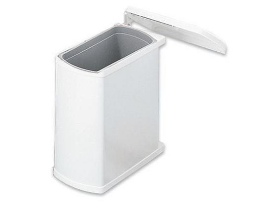 Abfallsammler Haus-/ Küchentechnik - Weiß, Basics, Kunststoff/Metall (38,9/41,2/20,3cm)