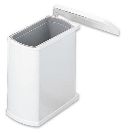 Koš Odpadkový 370920 - bílá, Basics, kov/umělá hmota (38,9/41,2/20,3cm)