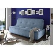 Schlafsofa mit Bettfunktion und Bettkasten Delia Webstoff - Blau/Schwarz, MODERN, Holzwerkstoff/Textil (206/95/95cm) - Carryhome