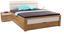Futonová Postel Leoben - šedá/barvy dubu, Moderní, kompozitní dřevo/textilie (185/105/213cm) - Ombra