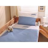 Kinderbettwäsche Blau/Weiß - Blau/Weiß, Design, Textil (80/80cm)