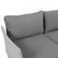 Loungegarnitur mit Sicherheitsglas 4-Teilig - Weiß/Grau, MODERN, Glas/Textil (300/210cm) - Greemotion