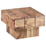 Beistelltisch Echtholz Sira, Akazie Massiv Naturbelassen - Akaziefarben, Design, Holz (44/44/30cm) - Livetastic