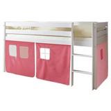Spielbett Malte 90x200 cm Rosa/ Hellrosa - Hellrosa/Rosa, Natur, Holz (90/200cm) - MID.YOU
